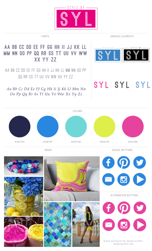 Style By SYL Branding Board