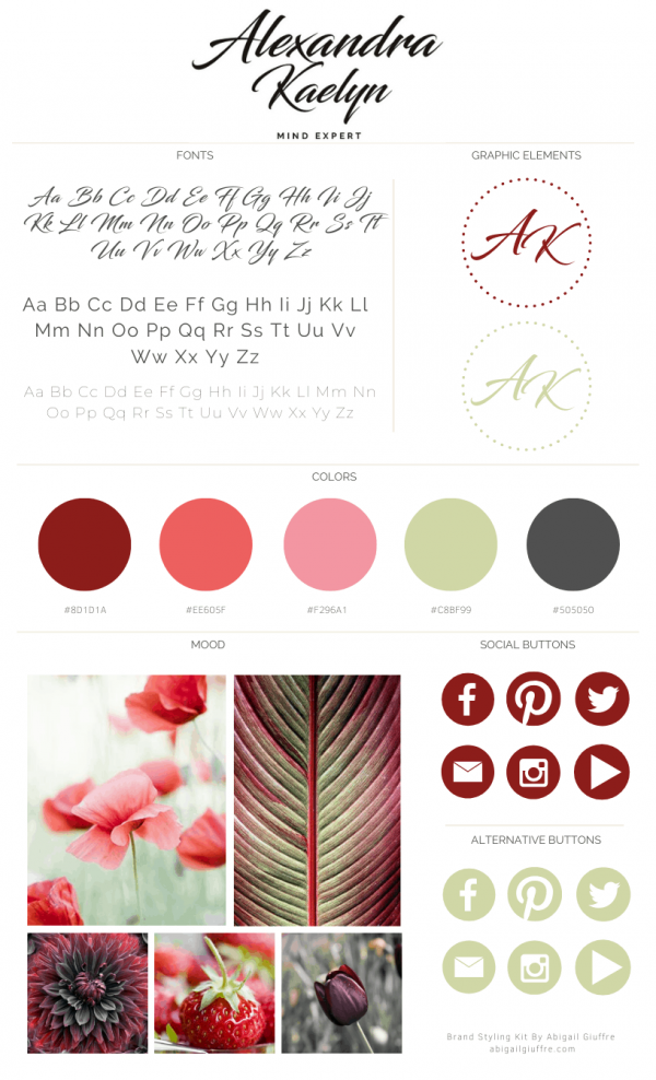 Alexandra Kaelyn Pre-made branding kit can be personalized with your business name & tagline Perfect forcreative entrepreneurs & small business owners who want to brand their business with a professional branding kit.
