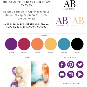 Anissa Benita Pre made Branding Kit 1
